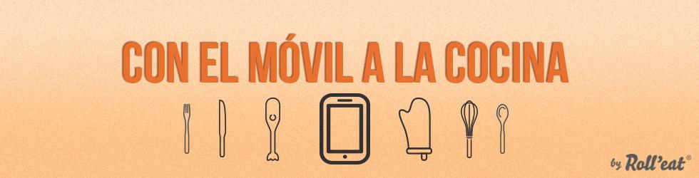 Con el móvil a la cocina