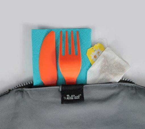 Porta tuppers picnic cubiertos rolleat