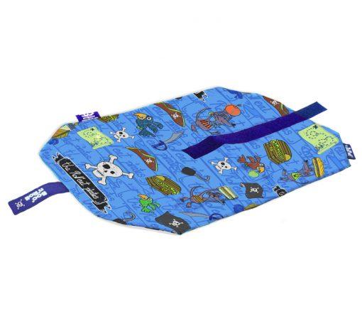 porta bocadillos reutilizable para niños con estampado pirata