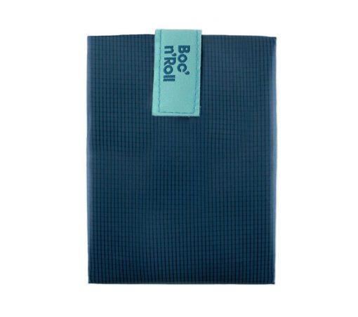 porta bocadillos plegable azul rolleat