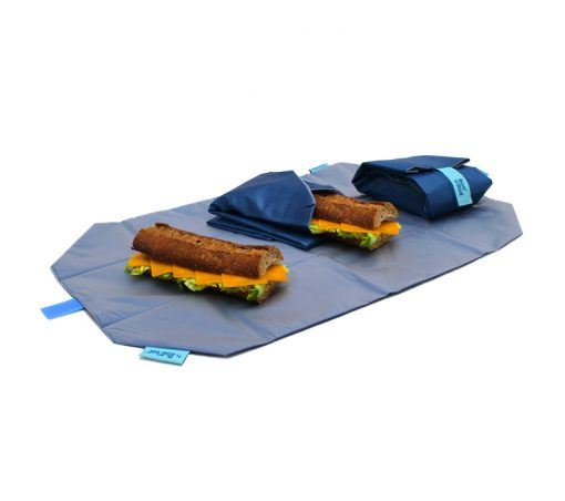 porta bocadillos azul picnic rolleat