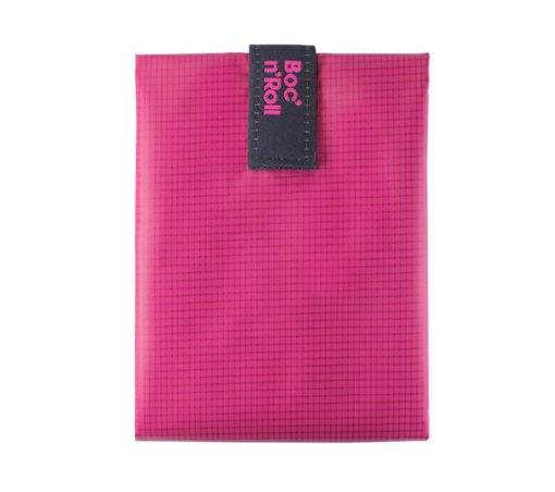 porta bocadillos rosa reutilizable rolleat