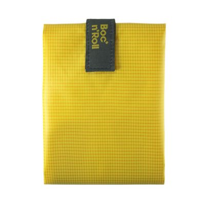 porta bocadillos amarillo reutilizable