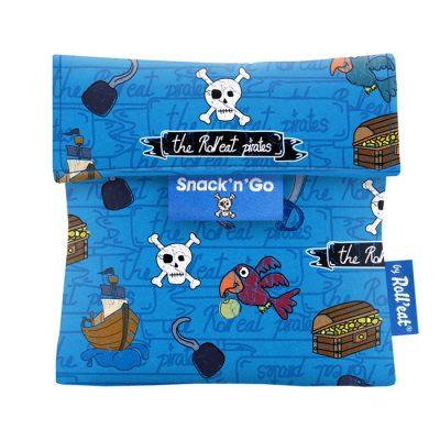 porta snacks para niños estampado piratas azul