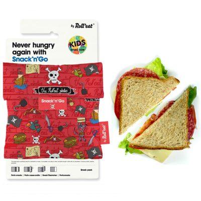 porta alimentos reutilizable para niños piratas