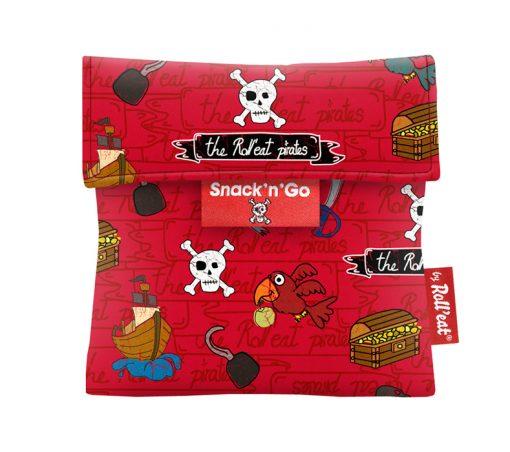 porta snacks reutilizable rojo piratas
