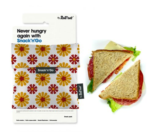 sandwich and snack pocket with barcelona patterns