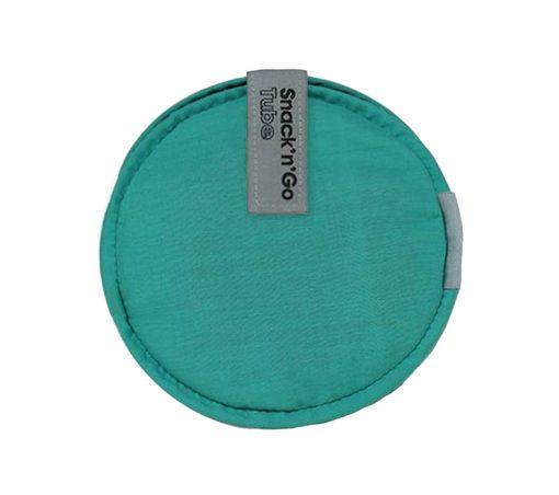 tubo porta snacks reutilizable verde