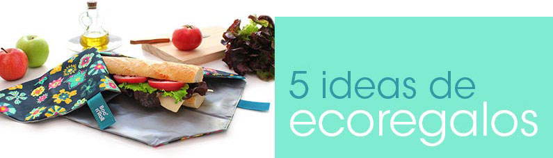 Banner de 5 ideas de regalos sostenible y ecológicos