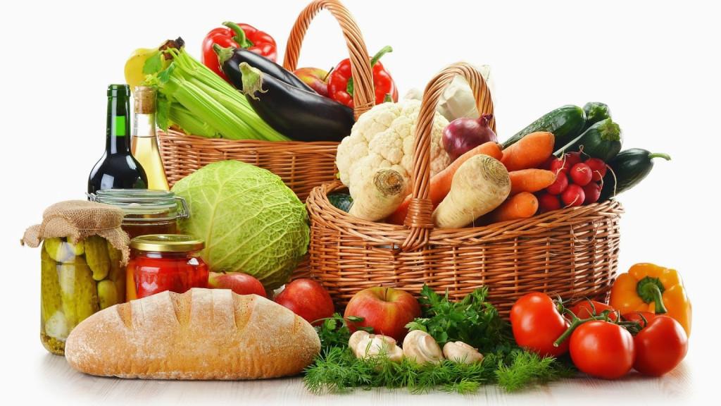 alimentación ecológica cesta