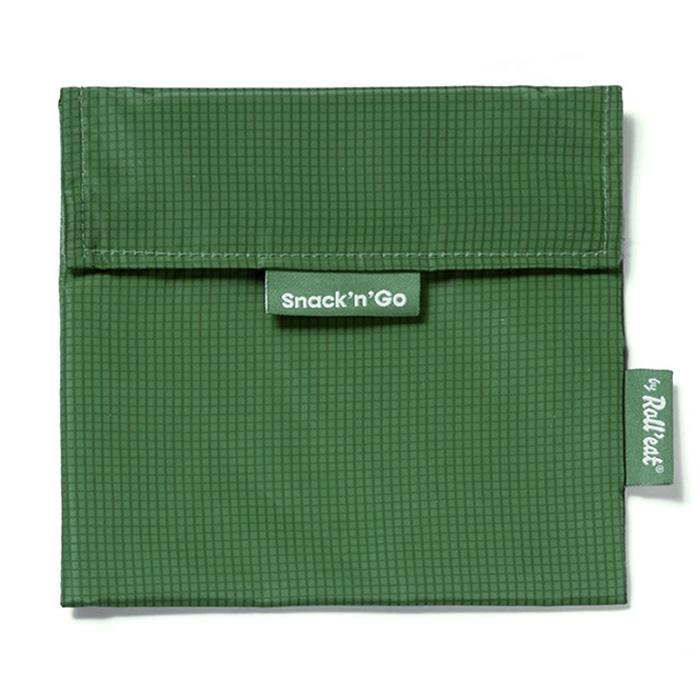 Colore Azzurro Porta Snack Ecologico Roll/'Eat Snack/'n/'Go Nature Senza BPA Sacchetto Porta Panino e Merenda Morbido Antimacchia Riutilizzabile e Impermeabile Lavabile