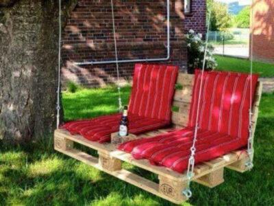 muebles de jardín con palets