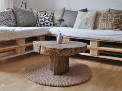 muebles de salón con palets